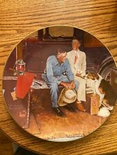 """1 Norman Rockwell Plates 1982 """"Breaking Home Ties"""""""