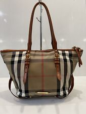 Burberry Bridle House Check Canvas Tote Bag