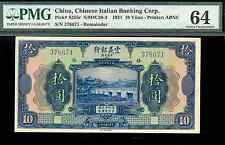 riotis 4536:  CHINA ITALIAN BANKING CORP. 10 Yϋan 1921, P-S255 - ITALY, CHINA