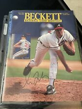 Greg Maddux Autographed Beckett Magazine See Description