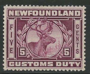 Canada Revenue - Newfoundland - Van Dam no NFC5 - VF - used