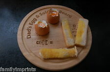 Egg & Soldiers Board/Cup Father's Day/Birthday personalised with name/relative