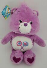 "2002 Care Bears Share Bear Purple Lollipop Plush Stuffed Animal 10"" TCFC New NWT"