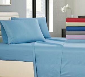 4 Piece Bed Sheet Egyptian Comfort Deep Pocket 1800 Series Microfiber Bed Sheets