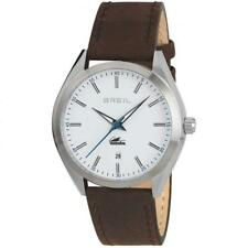 Mens Watch BREIL MANTA CITY TW1612 Leather Brown White Sub 100mt