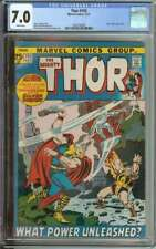 THOR #193 CGC 7.0 WHITE PAGES / BRONZE AGE LAST STAN LEE STORY AS REGULAR WRITER
