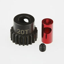 "GDS Racing Hard Steel 48P 20T Pinion Gear For 1/8"" (3.175mm) and 5mm Shaft"