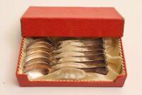 6 Silberlöffel Kaffeelöffel 90 Hartglanz Set versilbert edel dezenter Dekor 50er