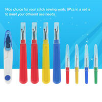 9pcs Seam Ripper Stitch Unpicker Sewing Plastic Handle Thread Cutter DIY Set