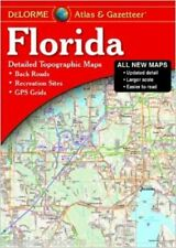 NEW Delorme Florida FL Atlas and Gazetteer Topo Road Map Topographic Maps