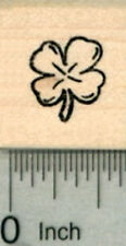 Four Leaf Clover Rubber Stamp, .5 inch tall A30211 WM