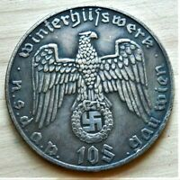 WW2 GERMAN COMMEMORATIVE COLLECTORS COIN 10 SCHILLING