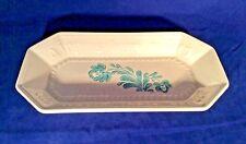 Pfaltzgraff Vintage Ceramic Yorktowne Bread Tray Ivory With Blue Flowers