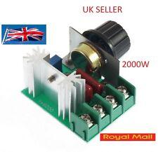 Adjustable Voltage Regulator AC SCR Motor Speed Control Controller 220V 2000W UK