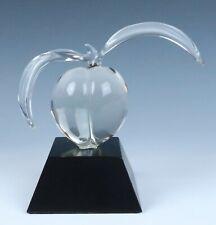 Vintage Hans Frabel Studio Glass PEACH Sculpture Signed Figurine Godo FS Fruit