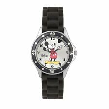 Official Licensed Disney Mickey Mouse Character Black Rubber Analogue Watch