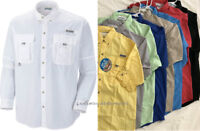 NEW COLUMBIA MEN BAHAMA LONG SLEEVE SHIRTS, XS-S-M-L-XL-XXL