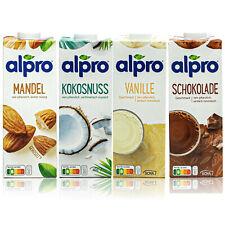 Alpro - 4er Probierset: Mandel, Kokosnuss, Vanille und Schoko Drink á 1 Liter