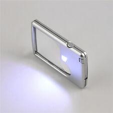 LED-Licht Schmuck Lupe Lupe Kreditkarte geformte Linse Vergrößer CN