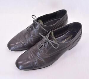 VTG JARMAN Gray Leather Oxfords Lace-Up Business Career Made Spain Dress Shoes 9