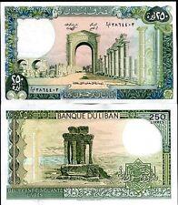 Lebanon 250 livres 1988 p 67 unc