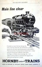 1956 Hornby Clockwork Train Sets Advert - Vintage Print AD