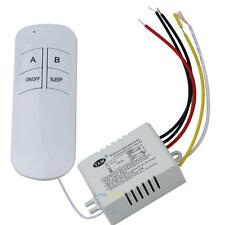 Wireless 220V ON/OFF Lamp 2 Ways Remote Control Switch Receiver Transmitter NEW