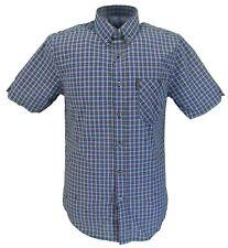 Ben Sherman Allure Blue Tab Check Short Sleeved Shirts
