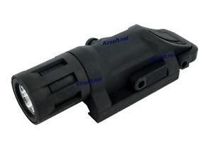 Airsoft WeaponLight Flashlight Strobe CREE Rail Pressure Pad Waterproof (Black)