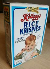 RARE Vintage Kellogg's Rice Krispies Cereal Box Kids Food Packaging Advertising