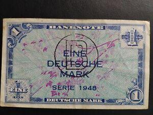 Germany Federal Republic 1 Deutsche Mark Banknote 1948 VF+