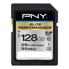 128GB PNY Elite Performance SDXC UHS-I Class 10 95MB/sec Memory Card