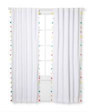"Tassel Blackout Curtain Panel Pillowfort White 42""x63"" New!"