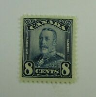 1928 Canada  SC #154  KING GEORGE V    MH 8 cent  F-VF stamp