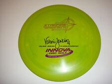 Innova Disc Golf Valarie Jenkins 4X Star Starfire Dist. Driver 162g Green Swirl