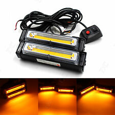 36W COB LED Emergency Hazard Warning Flash Strobe Beacon Light Bar -Amber 12/24V