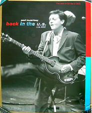 PAUL McCARTNEY Back In The USA 2002 promo POSTER with Hofner Violin Bass LIVE