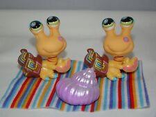 Littlest Pet Shop LPS 2008 Postcard Pets Hermit Crab #1008 Lot of 2 Towel Shell