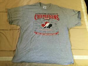 2002 Winter Olympics Canada Gold Medal Champions Hockey T-Shirt - Size XL
