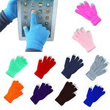 Touch Screen Gloves Women/Men Knitted Wool Hand Wrist Warmer Fingerless Winter H