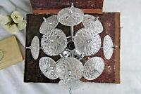 VAL SAINT LAMBERT SPUTNIK crystal discs sconce wall lamp vintage 1960's Belgium