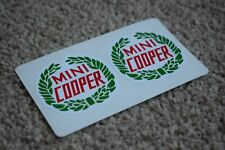 Mini Cooper S Vehicle Logo Badge Racing Tuning Turbo Decal Stickers Green 100mm