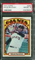 1972 Topps #280 Willie McCovey PSA 8 NM-MT