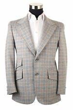 Vintage Plaid Windowpane Hacking Norfolk Jacket Sport Coat Blazer Sport Coat 39