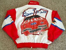 Vintage 90's Bill Elliott Anheuser-Bush NASCAR Racing Jacket XL Embroidered
