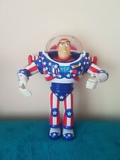 Stars And Stripes Talking Buzz Lightyear Thinkway Toy Story Special Edition Rare