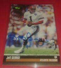 1995 Classic Pro Line JEFF GEORGE Autograph FALCONS /1295