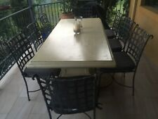 Outdoor setting table & 8 chairs, Tuscan style, good cond,