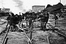 New 5x7 Civil War Photo: Michigan Regiment Destroying Railroad Tracks