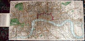 Antique map, Reynolds's map of London